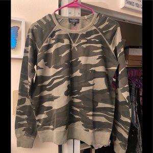 Lucky Brand Camo Crewneck Sweatshirt Size XS NWOT